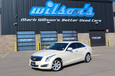 Certified Pre-Owned 2014 Cadillac ATS 3.6 PERFORMANCE AWD! NEW TIRES! NAVIGATION! $94/WK, 4.74% ZERO DOWN! REVERSE CAMERA! LEATHER!