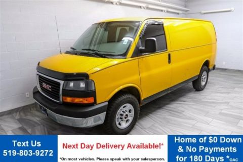 Certified Pre-Owned 2013 GMC Savana Cargo Van 3500 VORTEC 4.8L V8! REAR HEAT! RWD Commercial Vehicle
