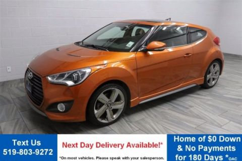 Certified Pre-Owned 2013 Hyundai Veloster TURBO w/ NAVIGATION! LEATHER! PANORAMIC ROOF! REVERSE CAMERA! HEATED SEATS! ALLOYS!