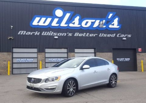 Certified Pre-Owned 2015 Volvo S60 T6 PREMIER PLUS! AWD! $113/WK@5.49% ZERO DOWN! LEATHER! PADDLE SHIFTERS! SUNROOF! CAMERA!