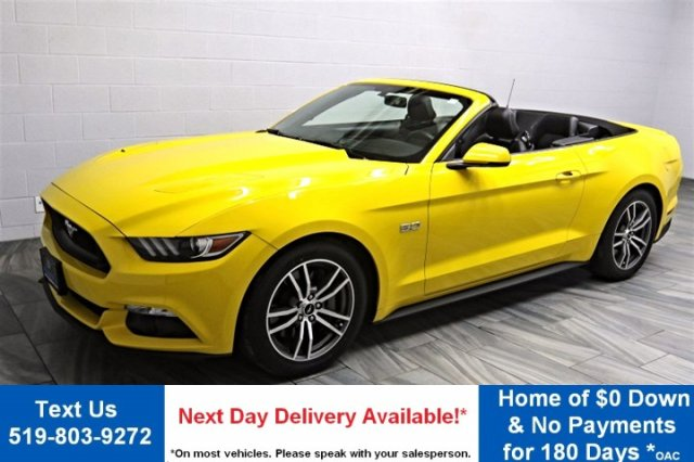 Certified Pre-Owned 2015 Ford Mustang GT PREMIUM! CONVERTIBLE 5.0L V8! NAVIGATION! PADDLE SHIFTERS! LEATHER! HOT/COLD SEATS! REAR CAMERA!