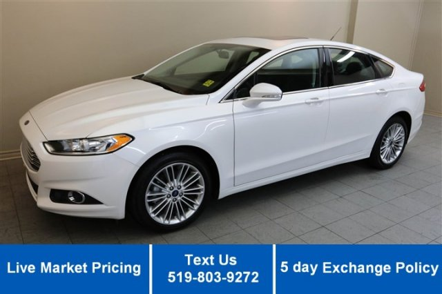 Certified Used Ford Fusion SE AWD! 2.0L ECOBOOST! NAVIGATION! HEATED LEATHER! SUNROOF!