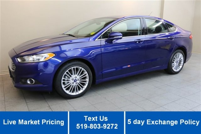 Certified Used Ford Fusion SE AWD 2.0L ECOBOOST! NAVIGATION! HEATED LEATHER! SUNROOF! SYNC!