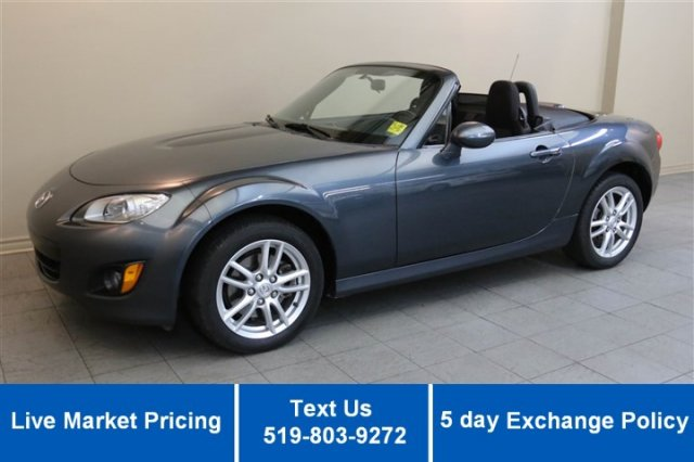Certified Used Mazda MX-5 GX CONVERTIBLE! 27,000KM! 1 OWNER! POWER PACKAGE! ALLOYS!