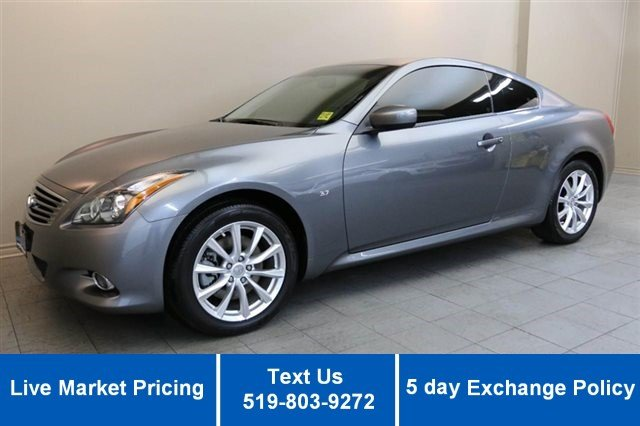 Certified Used Infiniti Q60 Coupe AWD COUPE! 17,000KM! LEATHER! SUNROOF! POWER + HEATED SEATS!