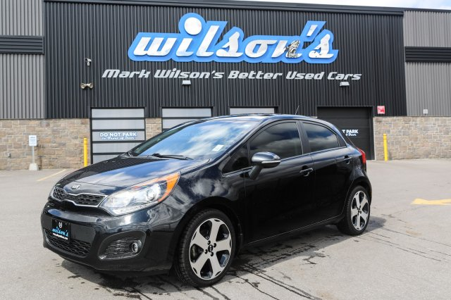 Certified Pre-Owned 2013 Kia Rio SX LEATHER! SUNROOF! NEW TIRES! REAR CAMERA! HEATED STEERING/SEATS! BLUETOOTH! ALLOYS!